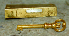 Old Enhlish Cabinet Lock- part and key made