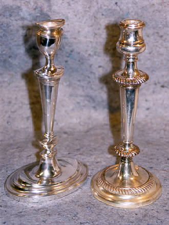Candlesticks for the above bases